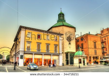 St. Antonio di Padova (Paolotti) Church in Rimini - stock photo