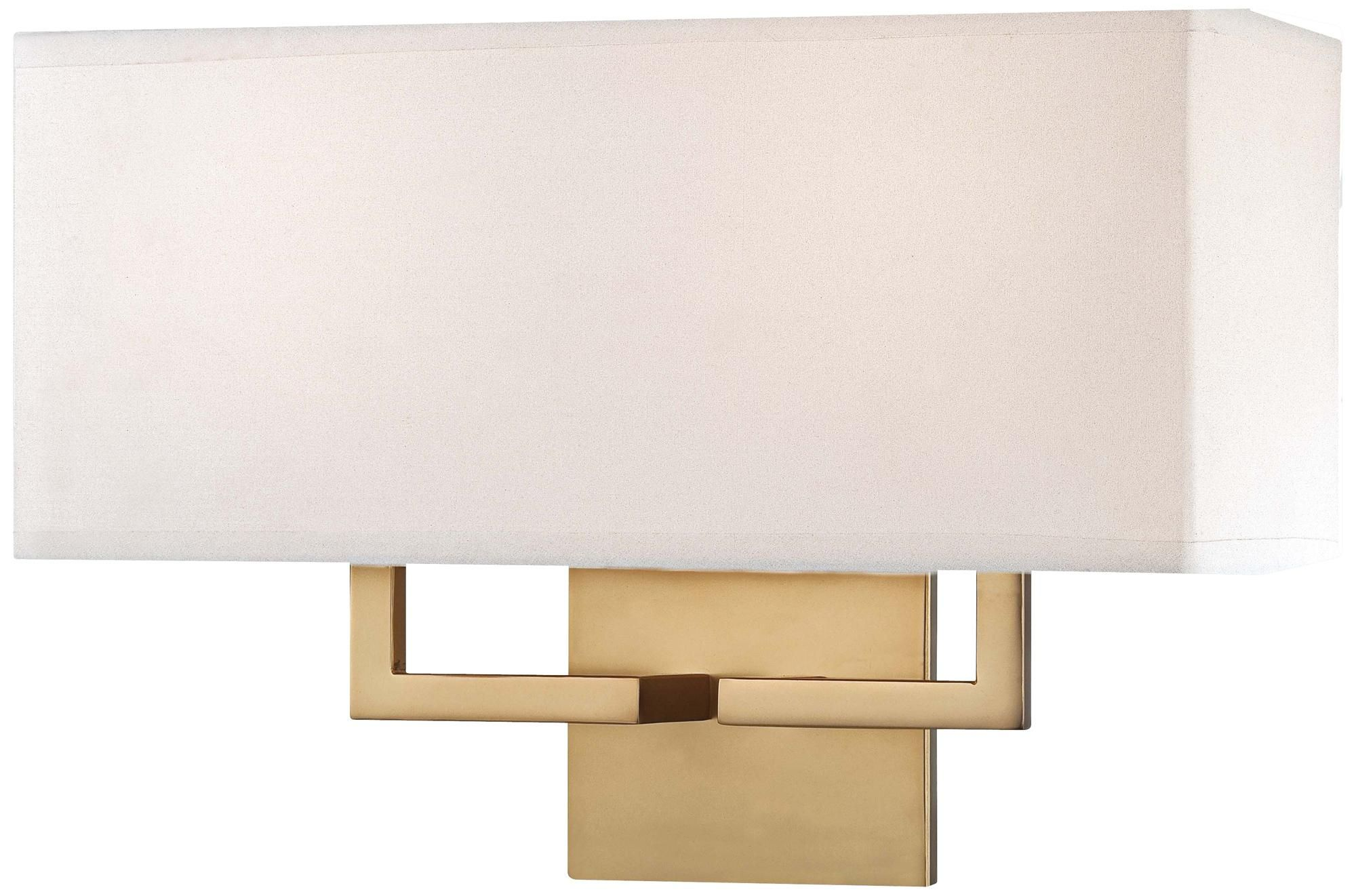 George Kovacs Rectangle 11 High Gold Wall Sconce W1297 Lamps Plus Gold Wall Lights Gold Wall Sconce Wall Lights