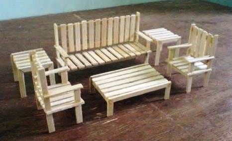 Die AG Minis von SNICKERDOODLE STREET: HTM Mini Möbel  #minis #mobel #snickerdoodle #street #popciclesticks