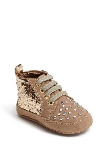 78aaee7f100 Stuart Weitzman  Vance  Crib Shoe (Baby Girls) available at  Nordstrom   34.95