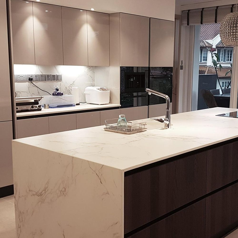 Kitchen Bar Counter Singapore: Italian Concept Sg Shared This Waterfall Island Countertop