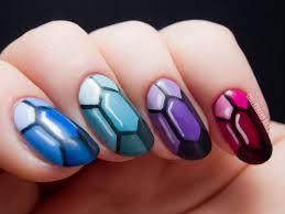 Gemstone Design Nailart Manicure
