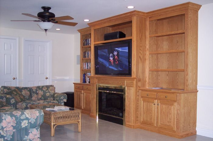 Built In Entertainment Center With Fireplace 1 More