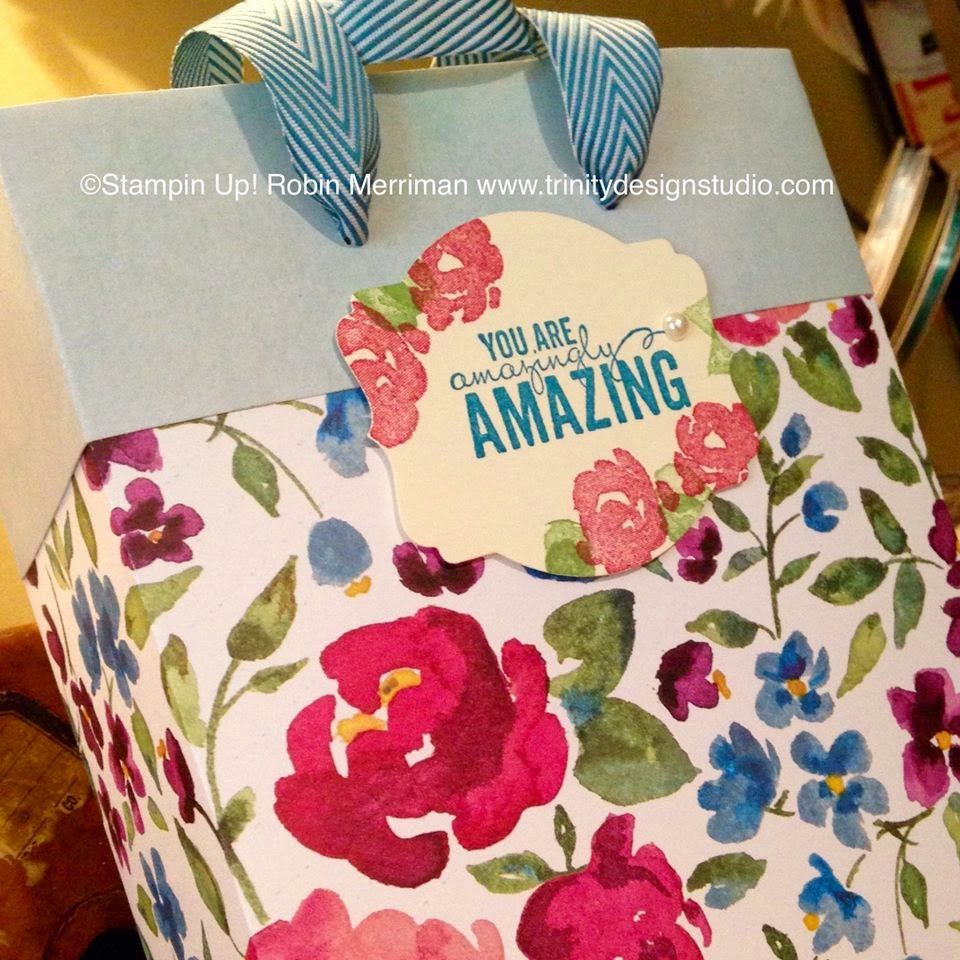 Trinity Designs: Pretty Paper Gift Bag! #paperweek