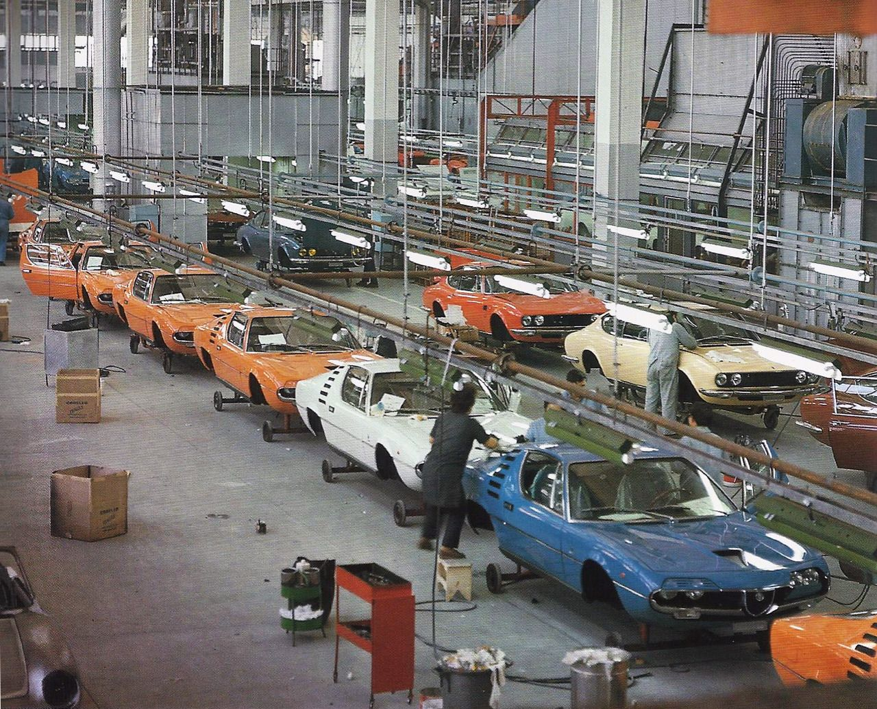 Bertone Factory Alfa Romeo Montreal Fiat Dino Coupe Cars Cars