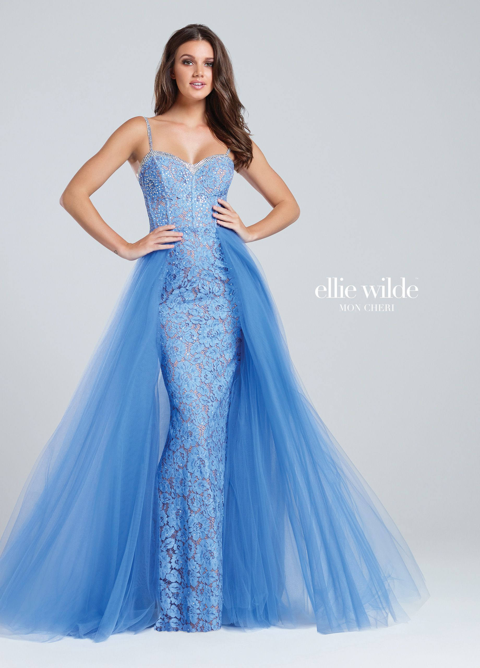 EW117065 | Floral lace, Bodice and Neckline