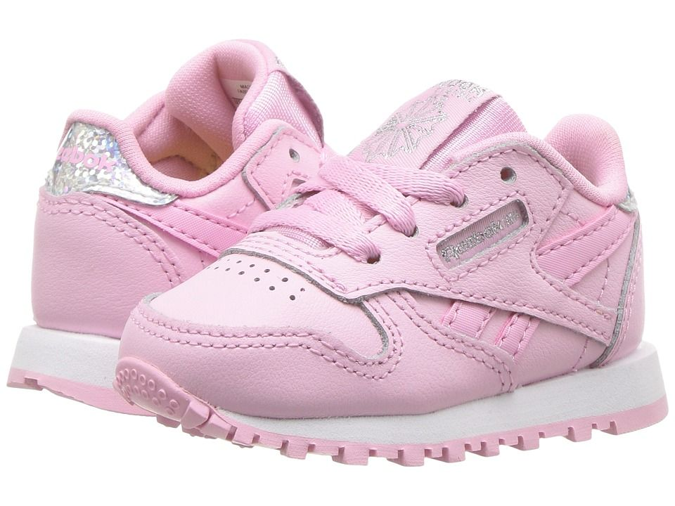 8e782542 Reebok Kids Classic Leather Pastel (Infant/Toddler) Girls Shoes ...
