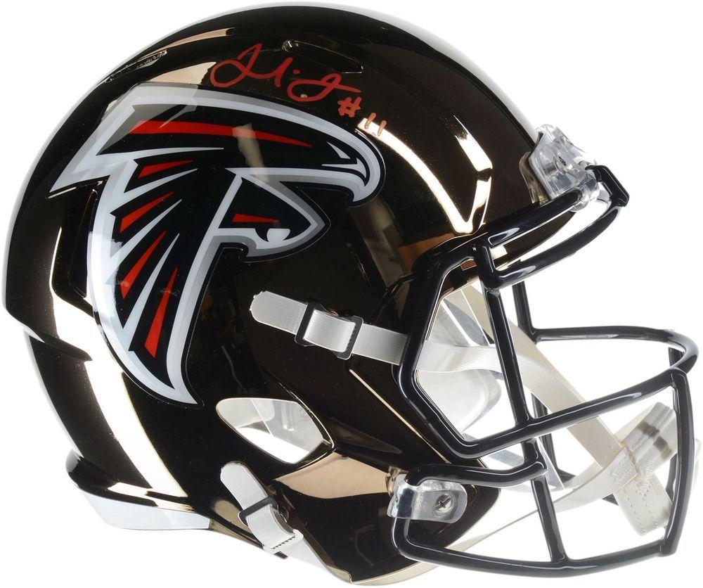 Autographed Julio Jones Falcons Helmet Fanatics Authentic Coa Item 9020744 Football Helmets Helmet Football Helmets For Sale