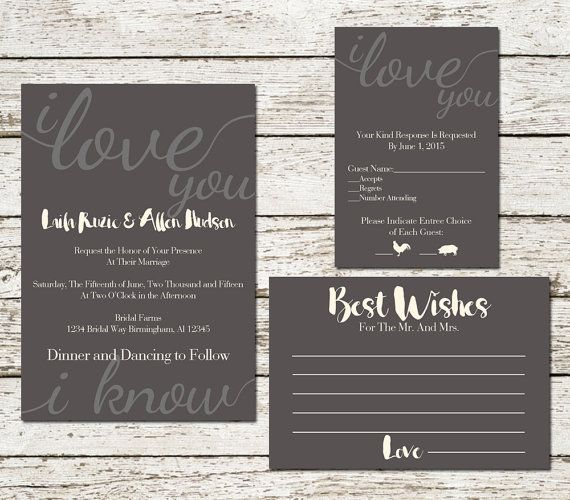 Star Wars Wedding Invitation Set Suite Printable Announcement Cards Han And Leia Quote Sci Fi Gee Star Wars Wedding Wedding Invitations Wedding Invitation Sets