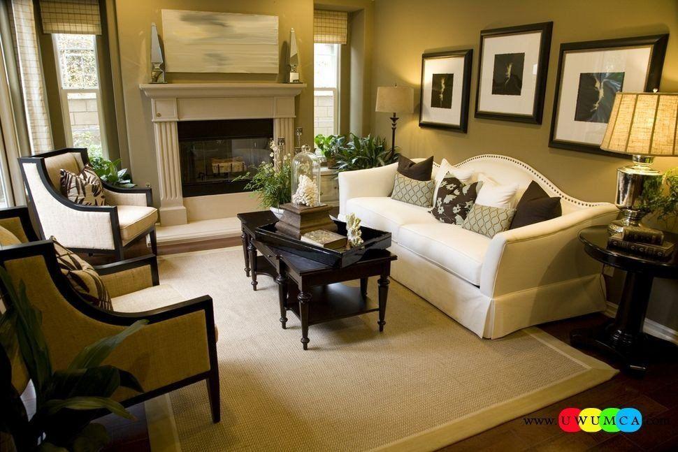 Living Room Layout With Fireplace And Tv Unique Decoration Decorating Small Living Room La Ruang Keluarga Kecil Furnitur Ruang Keluarga Dekorasi Ruang Keluarga #square #living #room #layout #with #tv