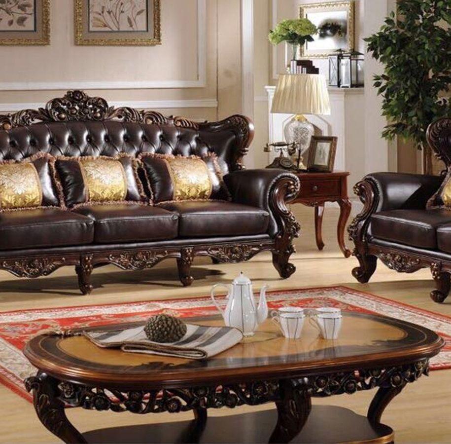 Vanessa Classic Dark Brown Wood Marble Top Coffee Table Set Furniture Wood Sofa Marble Top Coffee Table [ 900 x 915 Pixel ]
