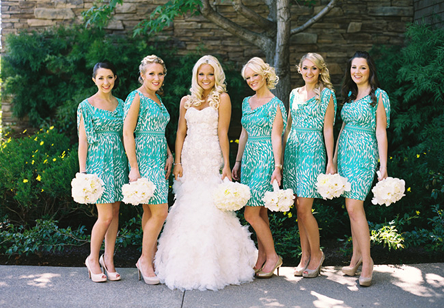 10 Best images about Patterned Bridesmaid Dresses on Pinterest ...