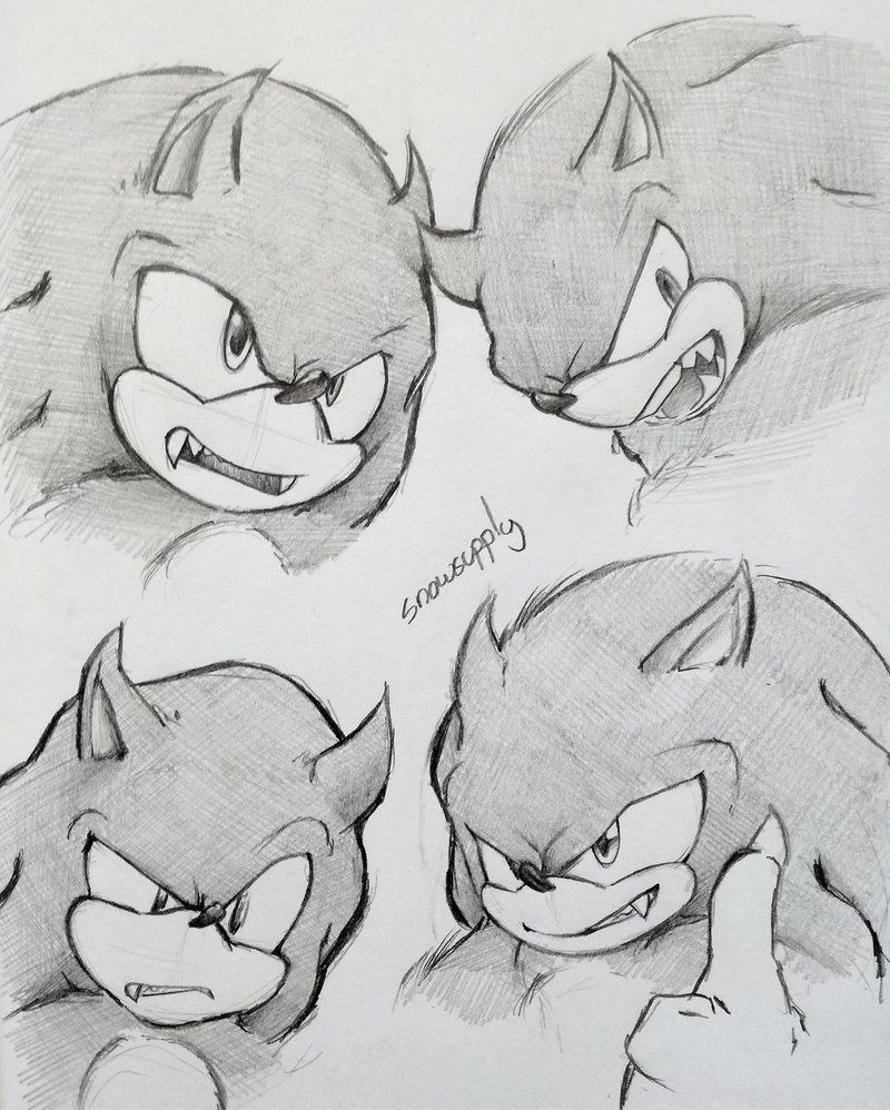 Werehog Sketches By Snowsupply Sonic Heroes Sonic Fan Characters How To Draw Sonic