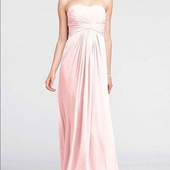 Selling this David\'s bridal chiffon petal pink F15555 brand new on ...