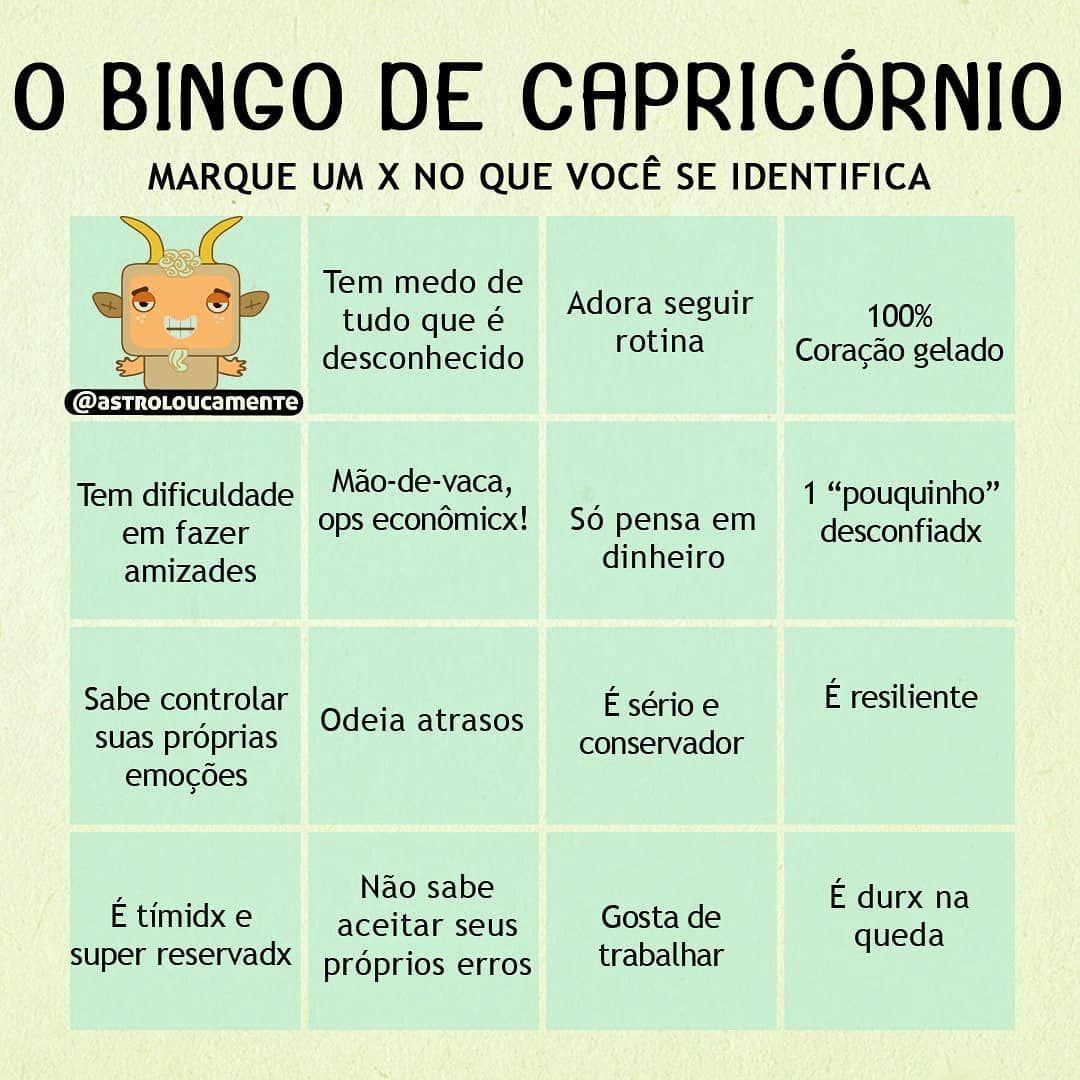 O Bingo De Capricornio Postem Nos Stories E Me Marquem Quero Ver