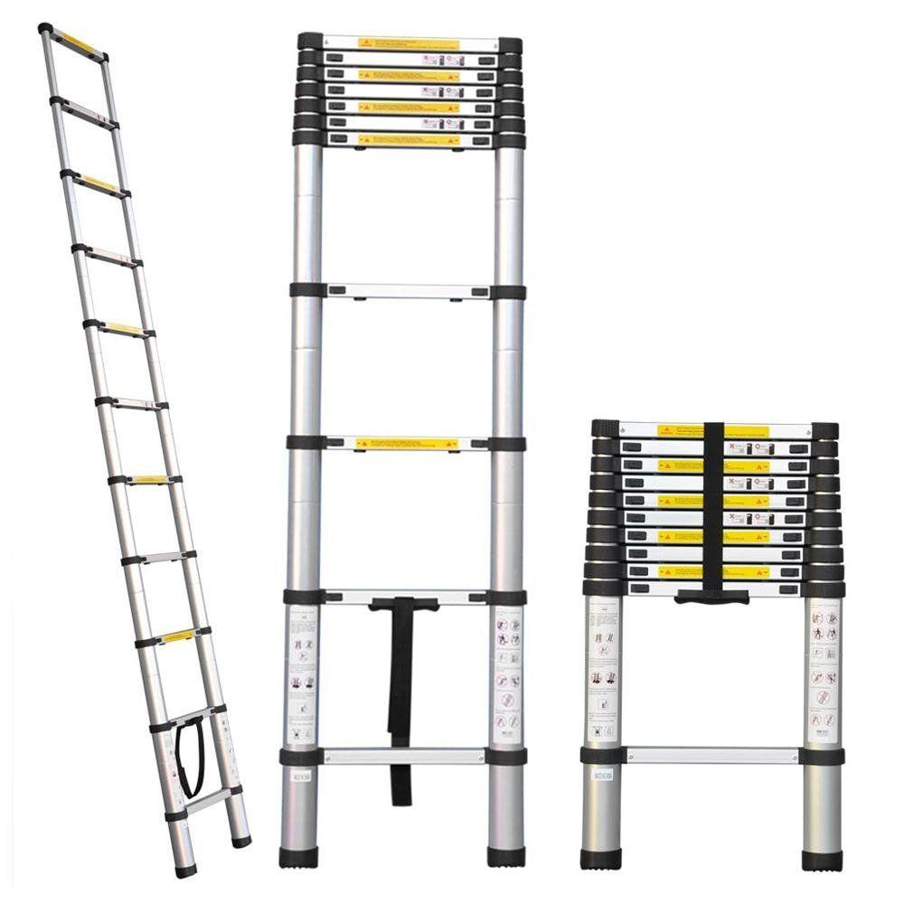 Rakuten Com 12 1 2ft 12 5 Extension Telescoping Aluminum Ladder Aluminium Ladder Ladder Amazing Bathrooms