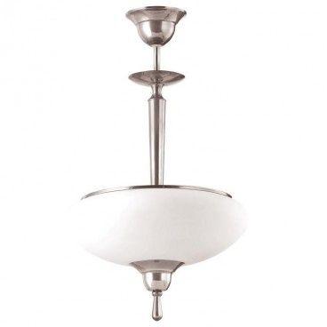Lampa wisząca Agat chrom klasyczna pojedyncza - LampyTanie - 627,30 PLN