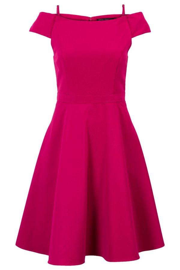 daa85d482dcc83 Klokkende jurk met mesh voering Roze