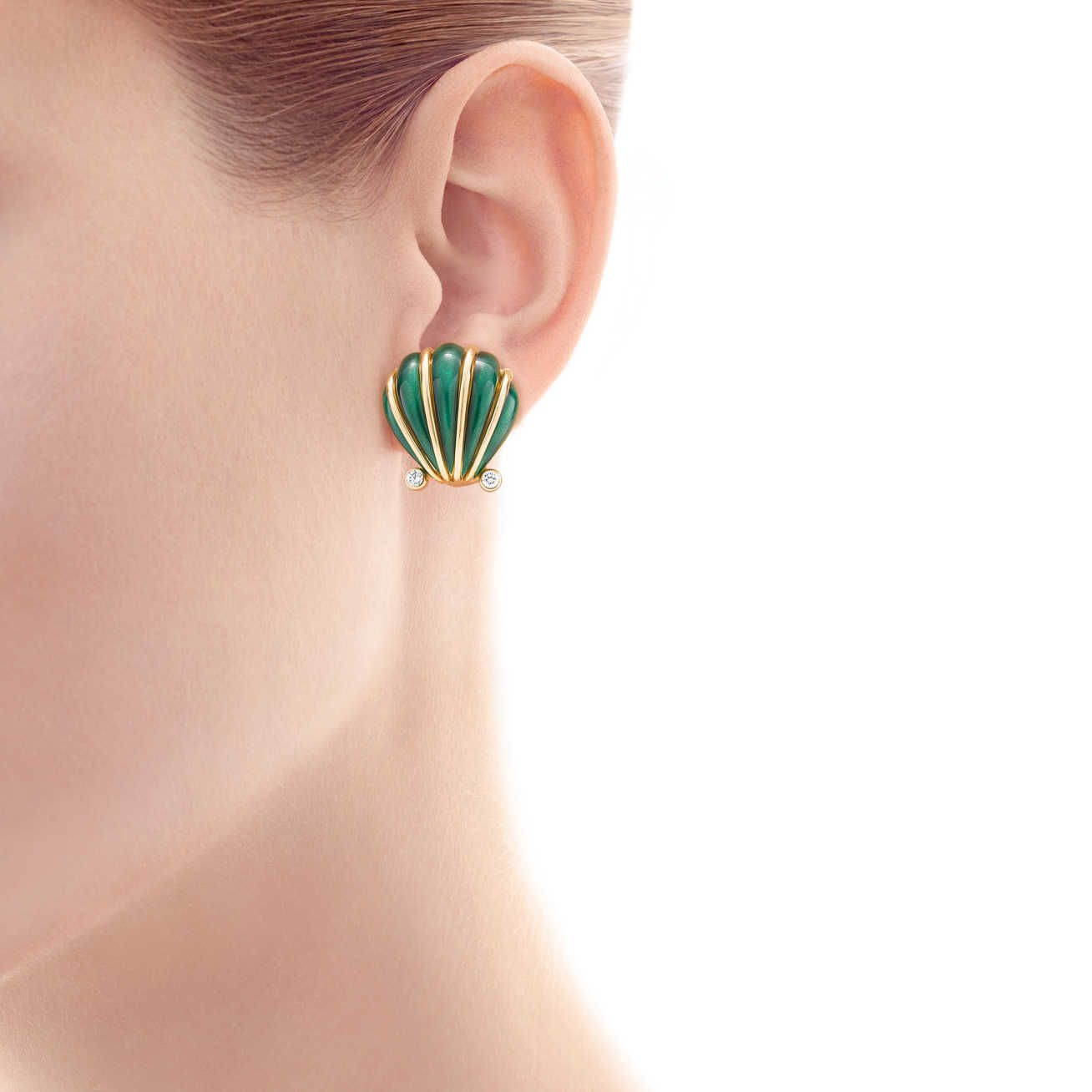 Tiffany & Co. Schlumberger®:Shell Ear Clips