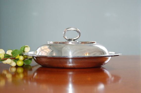 Rare Antique Silver Vegetable Bowl, Meriden Brittania Co. Silver Plate Hollowware Double Vegetable Bowl, Wedding Gift, Antique Silver Dish - SOLD! :)