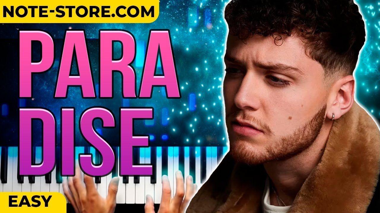 Bazzi Paradise Piano Tutorial Easy Instrumental Karaoke