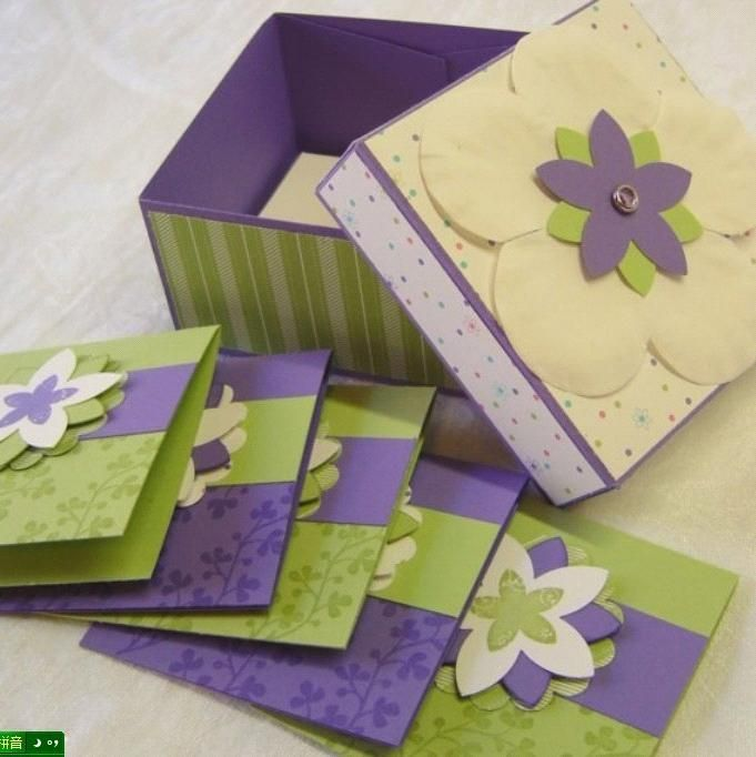 handmade cards for sale yart sale handmade box and matching note cards in purple 9252