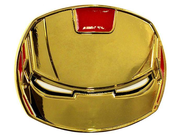 Belt Buckle Gold Iron Man