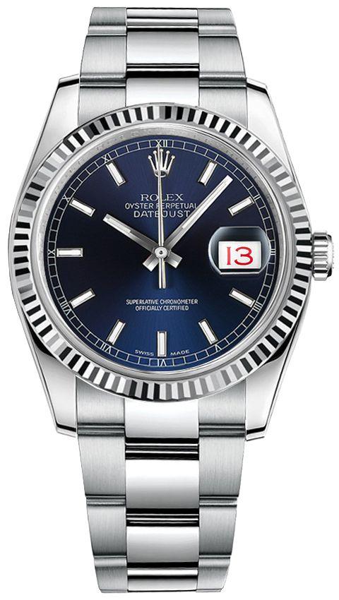 e57633647b9 Rolex Datejust 36 Blue Dial Oyster Bracelet Men s Watch 116234 ...