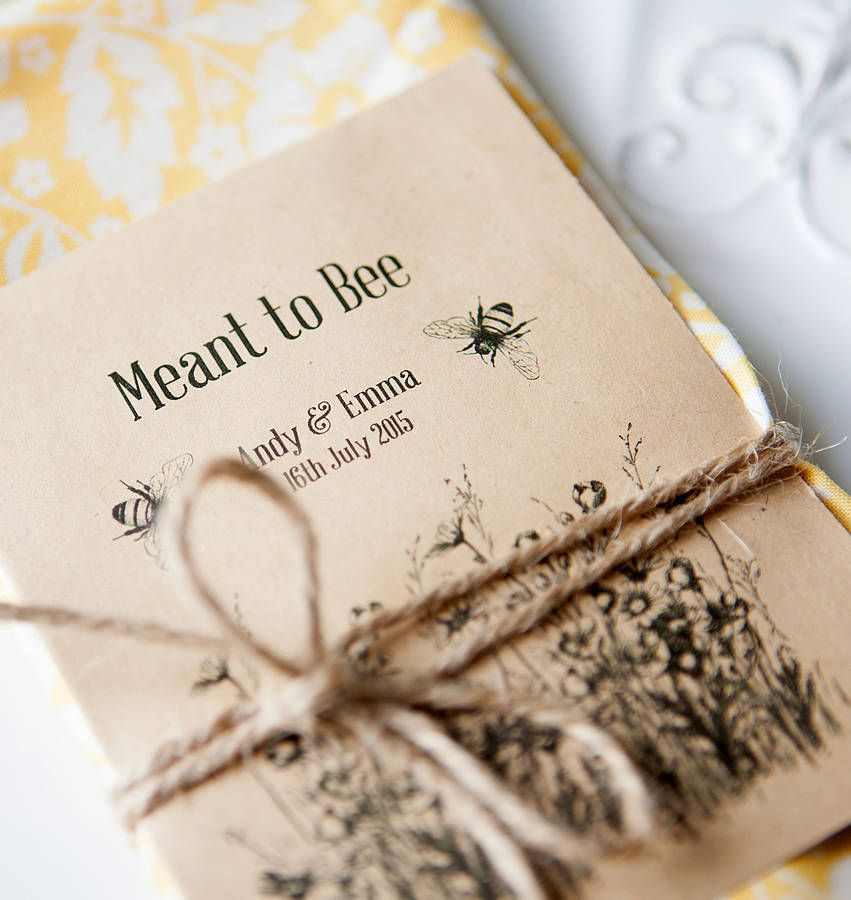 10 Meant To Bee Seed Packet Favours ♡ Seasons And