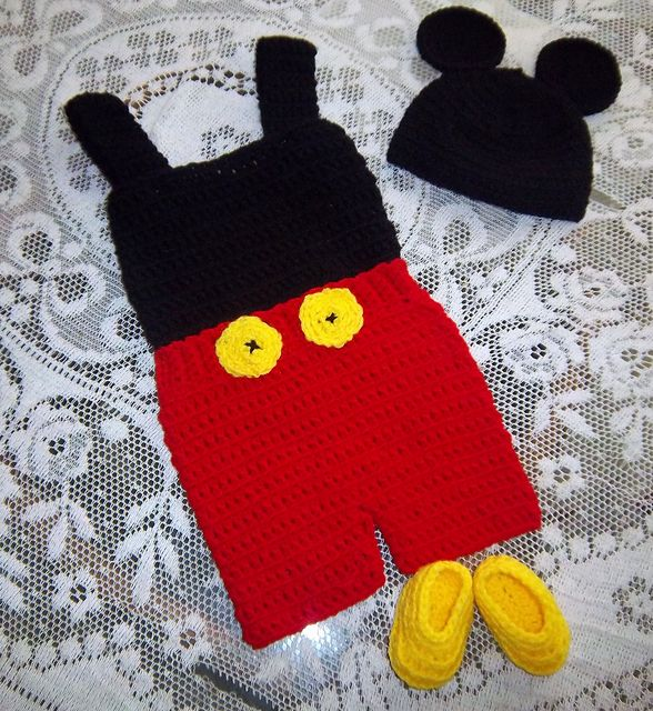 Mickey Mouse Outfit Crochet Pattern pattern by Shannon Houston ...