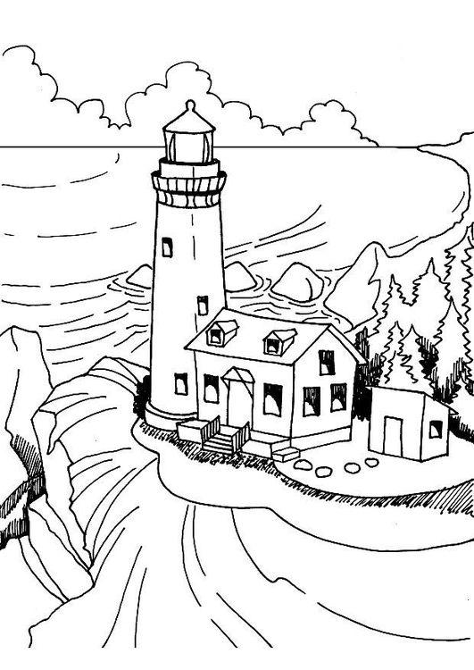 Dibujo para colorear Faros | Patrones | Pinterest | Faro, Colorear y ...