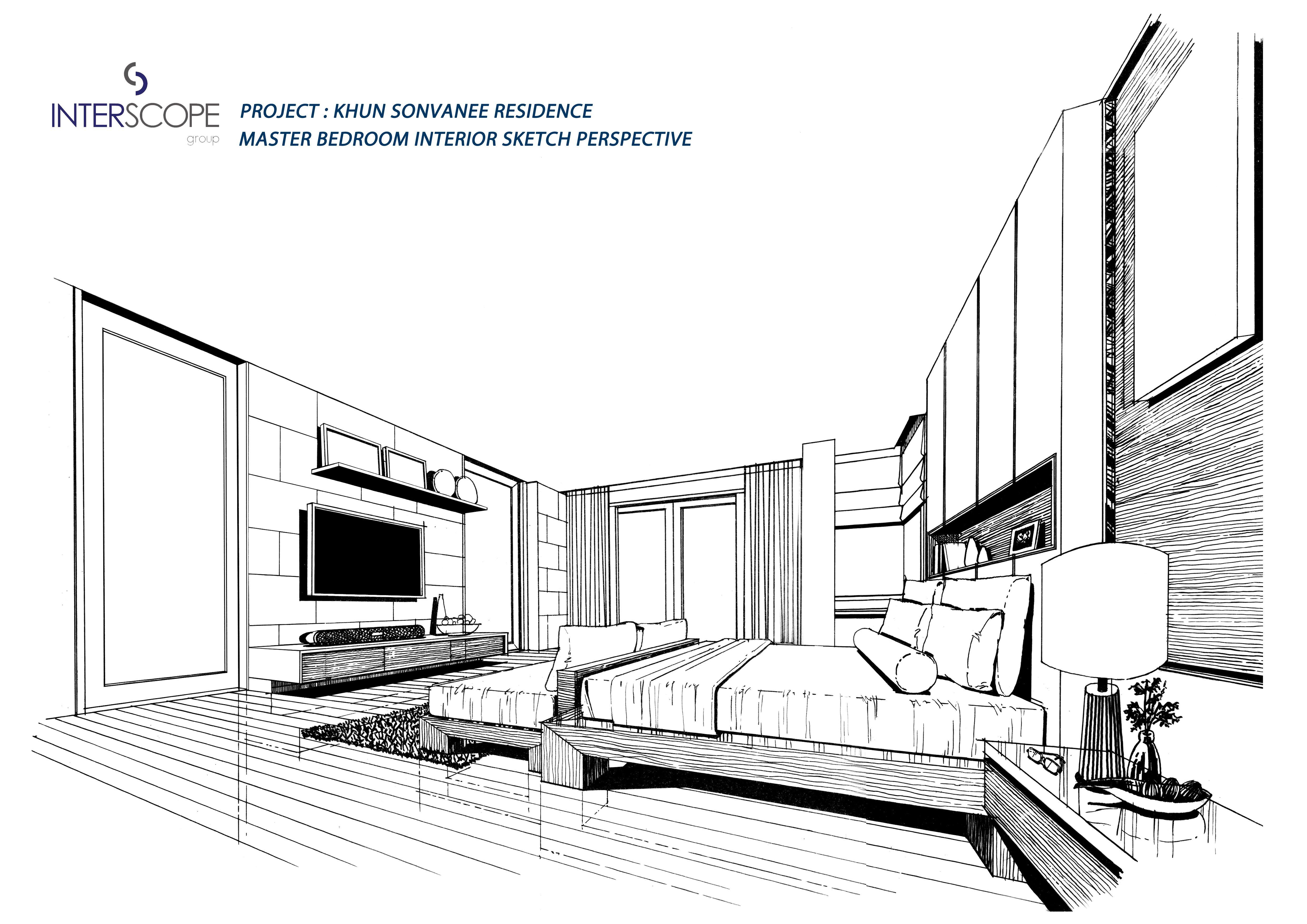 Master Bedroom Sketch Design Design Drawings Sketch Design