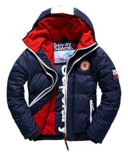 Superdry Sub Arctic Super Down Bomber Jacket Navy   Men fashion ... 639085cf6b