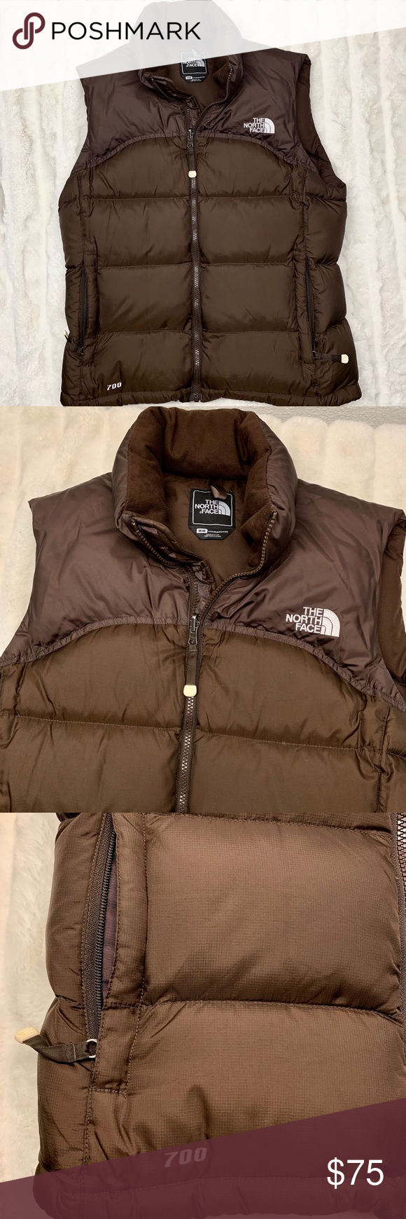 The North Face Nuptse 700 Down Puffer Brown Vest Brown Vest North Face Jacket North Face Nuptse [ 1740 x 580 Pixel ]