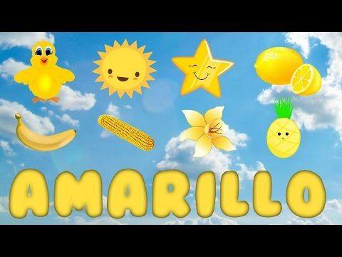 El color amarillo para niños - Cosas de color amarillo - YouTube