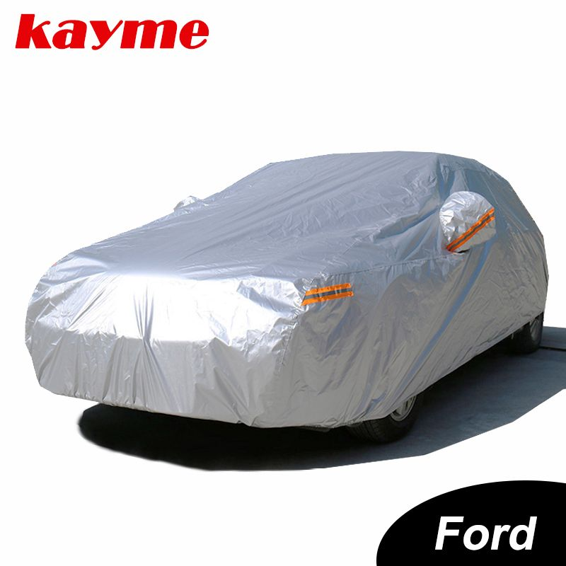 Kayme Waterproof Car Covers Outdoor Sun Protection Cover For Car For Ford Mondeo Focus 2 3 Fiesta Kuga Waterproof Car Car Covers Exterior Accessories