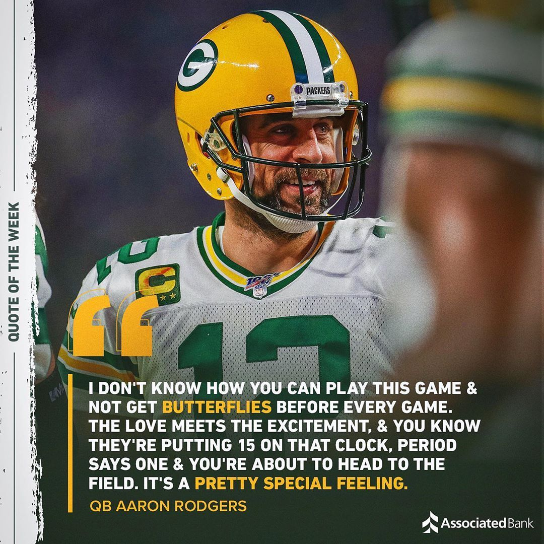 Green Bay Packers Posted On Instagram There S Nothing Like That Gameday Feeling Gbvsmin Sunday At 12 P M Ct Fox In 2020 Green Bay Packers Me Quotes