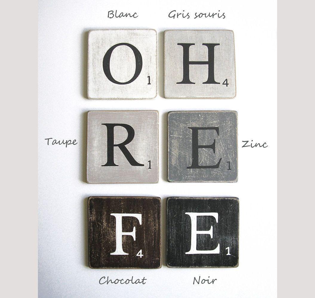 Lettres Decoratives Scrabble Federation Lettre En Bois Deco