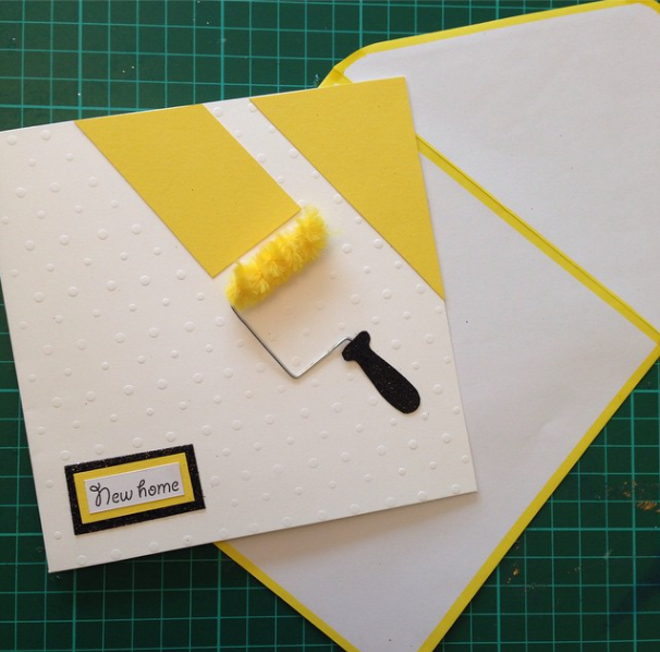 Fluffy Roller New Home Card Housewarming Card New Home Cards Card Making