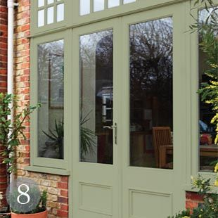 Image gallery heritage green upvc windows for Upvc french doors leeds