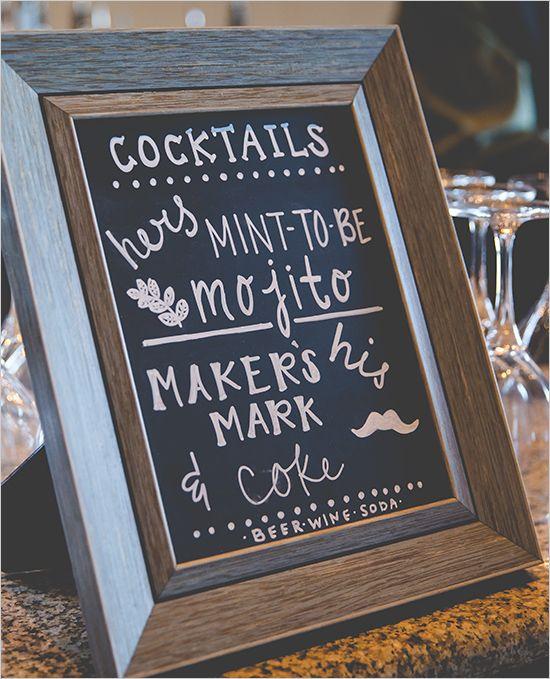 Signature Cocktail Ideas @weddingchicks