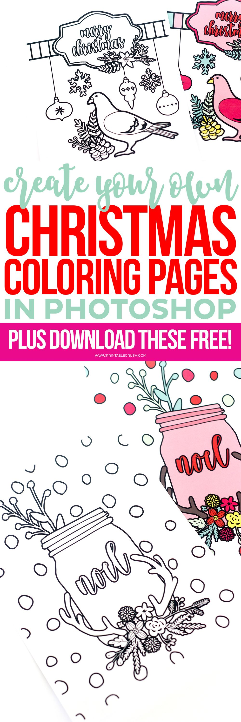 Learn to Create Christmas Coloring Pages in Photoshop | Photoshop ...