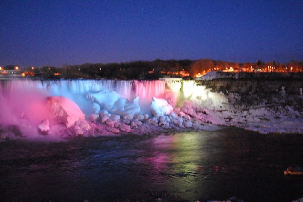 Gallery For Niagara Falls Frozen At Night Niagara Falls Frozen Niagara Falls At Night Niagara Falls Lights