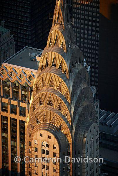Aerial photograph of  Chrysler Building in Manhattan.