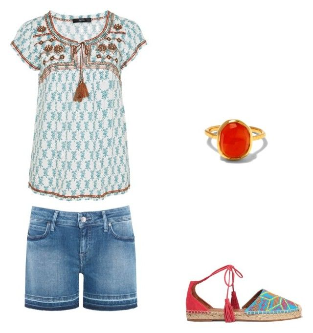 """""""Untitled #217"""" by addisonsoutham on Polyvore featuring Hallhuber, Aquazzura, Tommy Hilfiger and Monica Vinader"""