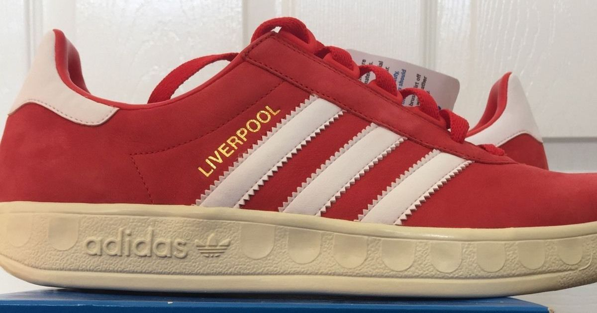 Liverpool themed Adidas Trimm Trabs