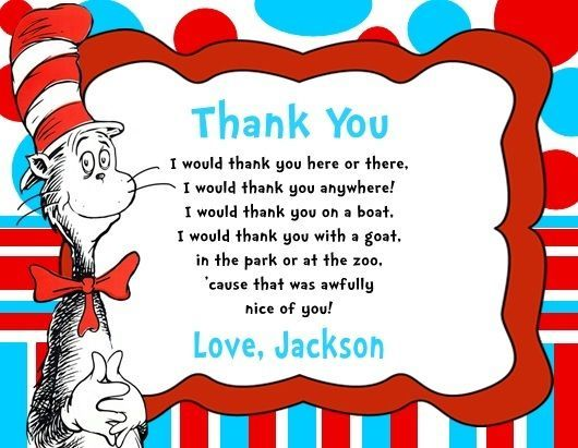Cat in the hat birthday party thank you note cards personalized cat in the hat birthday party thank you note cards personalized bookmarktalkfo Choice Image