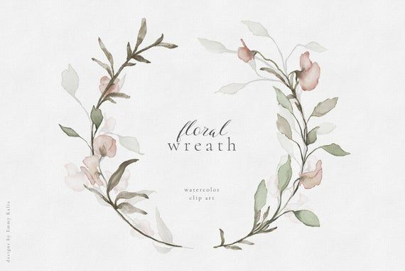 Photo of Watercolor Floral Wreath, hand painted flower wreath, Wildflower Clipart, DIY wedding invites