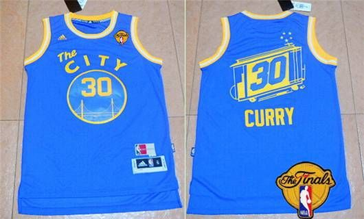 7e02ff4e1 Men s Golden State Warriors  30 Stephen Curry Revolution 30 Swingman 2015-16  Retro Blue Jersey