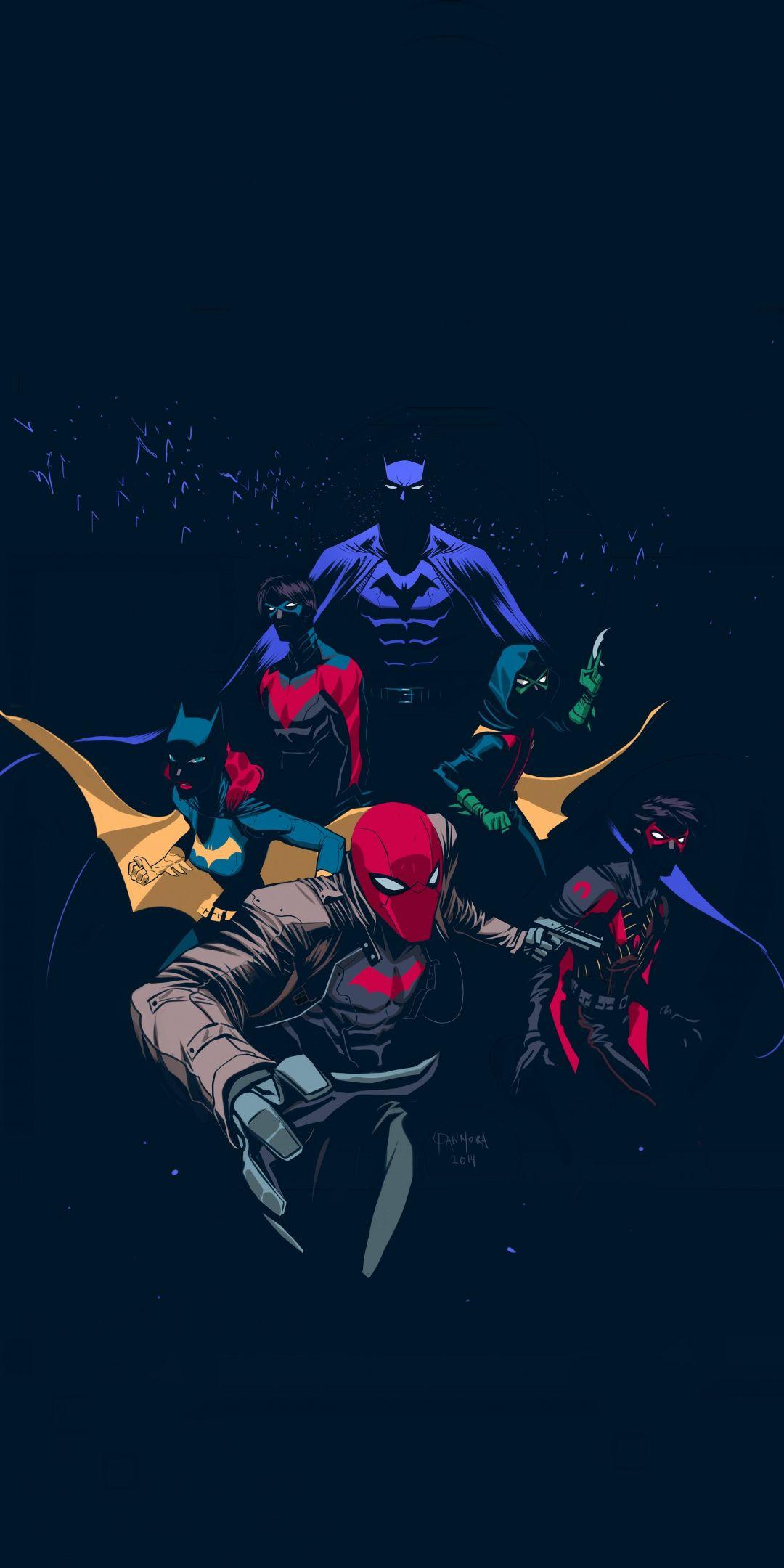 Bat Family Wallpaper : family, wallpaper, Batfamily,, Robin,, Hood,, Artwork,, 1080x2160, Wallpaper, Comics, Wallpaper,, Batman